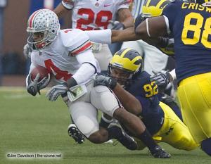 041 Ray Small Ohio State Michigan 2007 The Game football
