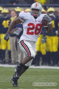059 Chris Wells Ohio State Michigan 2007 The Game football