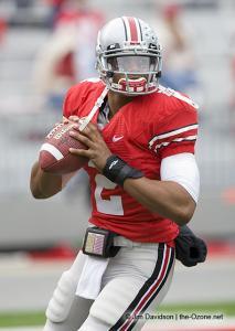 002 Terrelle Pryor pregame Ohio State Michigan 2008 The Game football
