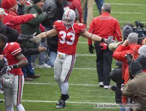 016 James Laurinaitis pregame Ohio State Michigan 2008 The Game football
