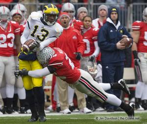 025 Tyler Moeller Ohio State Michigan 2008 The Game football