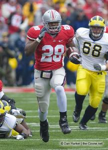 028 Chris Wells Ohio State Michigan 2008 The Game football