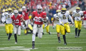031 Chris Wells Ohio State Michigan 2008 The Game football