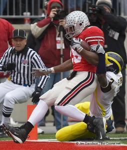 035 Chris Wells Ohio State Michigan 2008 The Game football