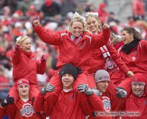 038 osu cheerleaders Ohio State Michigan 2008 The Game football