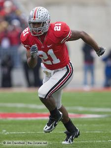 051 Anderson Russell Ohio State Michigan 2008 The Game football