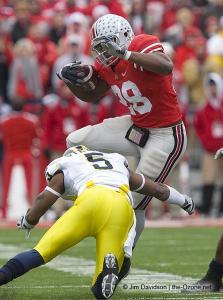 053 Chris Beanie Wells Ohio State Michigan 2008 The Game football