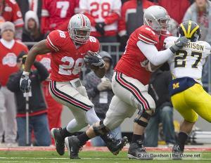 066 Chris Beanie Wells Jim Cordle Ohio State Michigan 2008 The Game football