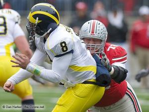 073 Dexter Larimore Ohio State Michigan 2008 The Game football