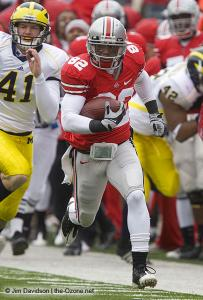 081 Ray Small Ohio State Michigan 2008 The Game football