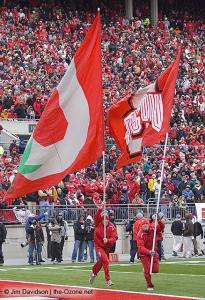 082 osu cheerleaders Ohio State Michigan 2008 The Game football