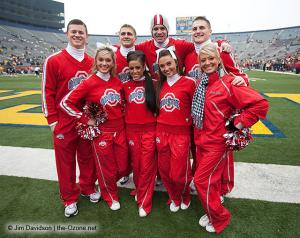 003 OSU cheerleaders Ohio State Michigan 2009 football
