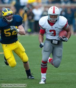 049 Brandon Saine Ohio State Michigan 2009 football