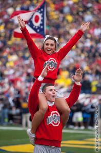 054 OSU cheerleaders Ohio State Michigan 2009 football