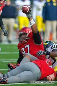 063 Cameron Heyward Ohio State football Michigan 2010