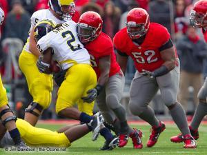 078 Brian Rolle Johnathan Hankins Ohio State football Michigan 2010