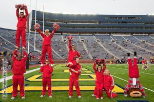 002 OSU cheerleaders Ohio State Michigan 2011 The Game football
