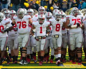 010 Pregame Ohio State Michigan 2011 The Game football