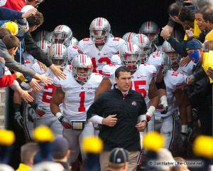 020 Luke Fickell Tunnel Ohio State Michigan 2011 The Game football