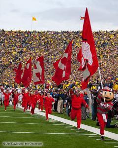 023 Brutus Cheerleaders Ohio State Michigan 2011 The Game football