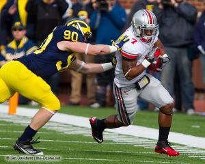 028 Jordan Hall Ohio State Michigan 2011 The Game football