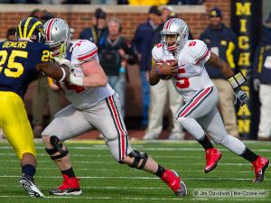 030 Jack Mewhort Braxton Miller Ohio State Michigan 2011 The Game football