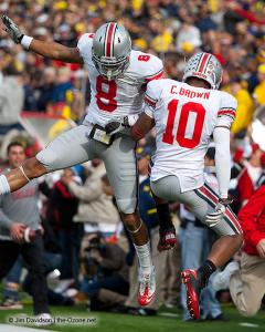 036 DeVier Posey Corey Philly Brown Ohio State Michigan 2011 The Game football