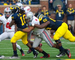 040 Etienne Sabino CJ Barnett Ohio State Michigan 2011 The Game football