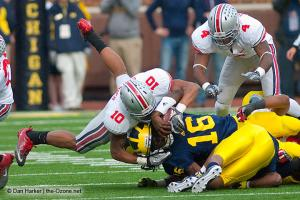 041 Ryan Shazier CJ Barnett Ohio State Michigan 2011 The Game football