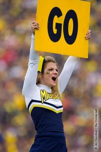 042 UM Cheerleader Ohio State Michigan 2011 The Game football