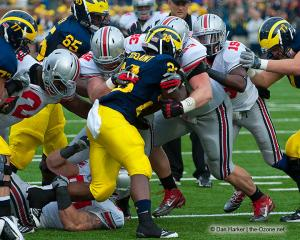 048 Orhian Johnson Storm Klein Adam Bellamy Ohio State Michigan 2011 The Game football