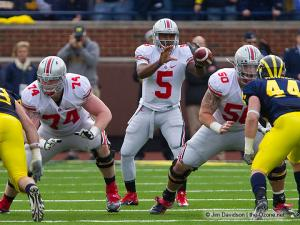 052 Jack Mewhort Braxton Miller Mike Brewster Ohio State Michigan 2011 The Game football