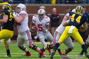 053 Jack Mewhort Braxton Miller Mike Brewster Ohio State Michigan 2011 The Game football
