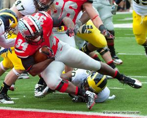 028 Carlos Hyde Touchdown Ohio State Michigan 2012