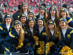 005 Cheerleaders Ohio State Michigan 2014