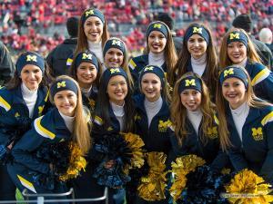 005 Cheerleaders Ohio State Michigan 2014