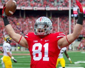 035 Nick Vannett Touchdown Ohio State Michigan 2014