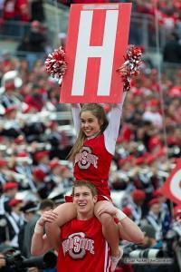 043 Cheerleaders Ohio State Michigan 2014