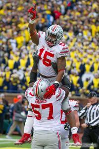 077 Chase Ferris Ezekiel Elliott Touchdown Ohio State Michigan 2015